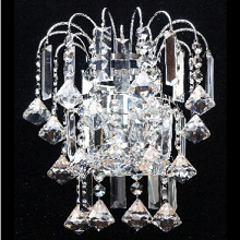 Bach  Chrome  Wall Bracket  Crystal Lozenges & Finials with G9 LED