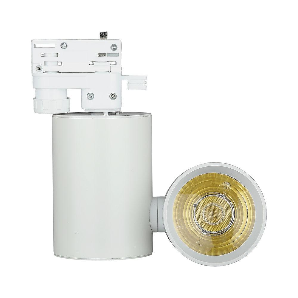 V-TAC 1300 - VT-4615 15W LED TRACKLIGHT 6400K-WHITE BODY,5YRS WTY