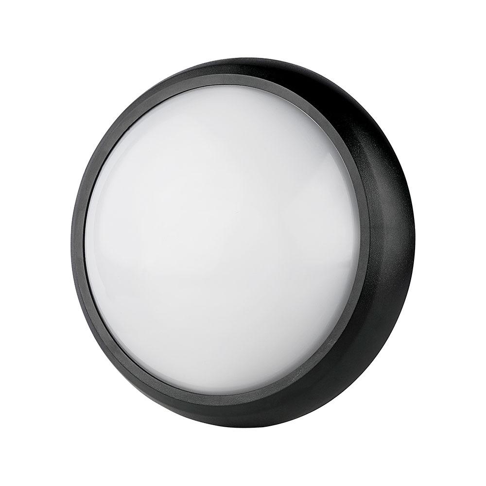 V-TAC 1349 - VT-8015 12W FULL ROUND IP54 DOME LIGHTS 3000K BLACK BODY