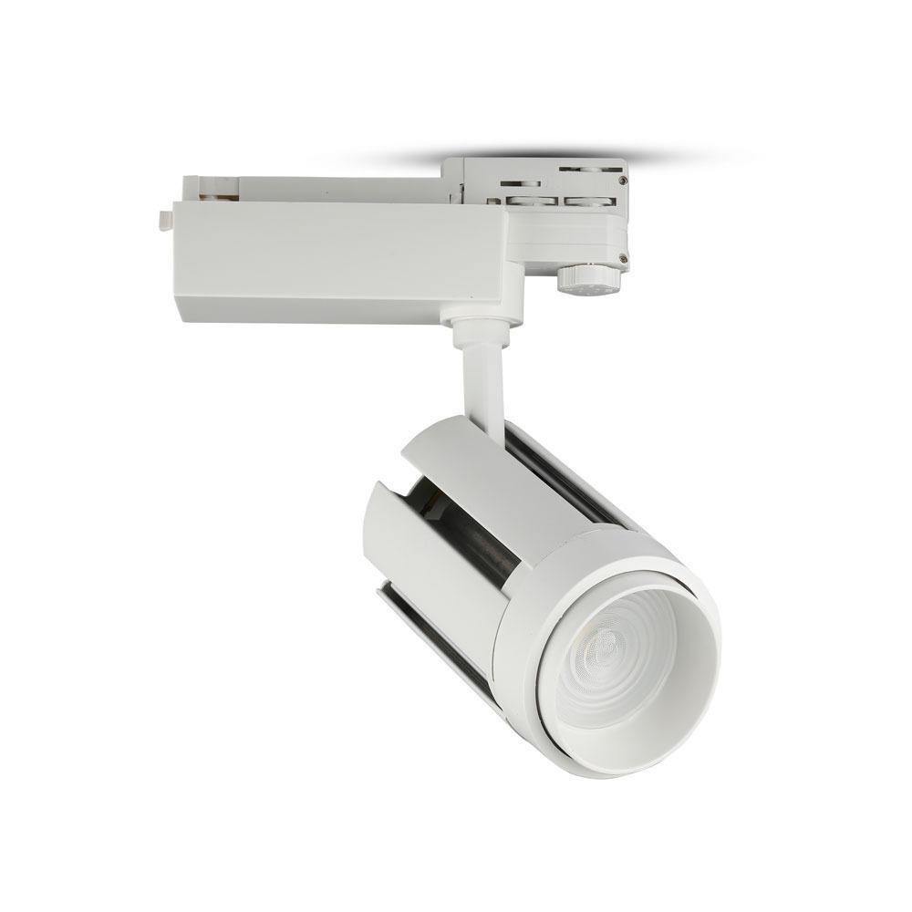 V-TAC 1359 - VT-4735 35W LED TRACKLIGHT 6400K WHITE BODY,5 YRS WTY