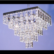 Tempo  5  Tier Square Pendant  with Full Lead Crystal Squares & Lozenge