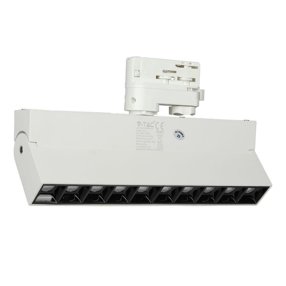 V-TAC 20009 - VT-431 25W LED LINEAR TRACK LIGHT SAMSUNG CHIP 2700K WHITE BODY