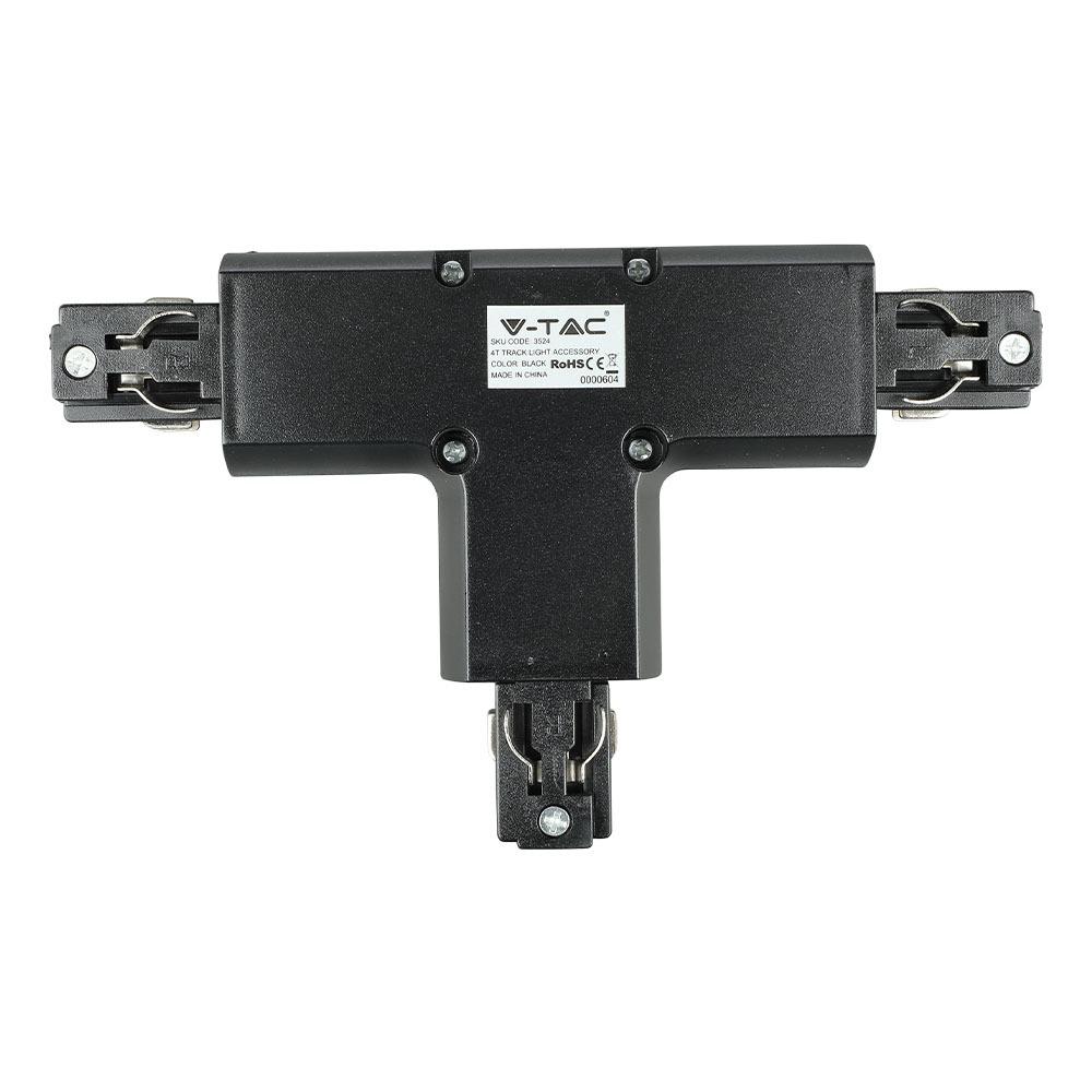 V-TAC 3524 - 4T TRACK LIGHT ACCESSORY BLACK