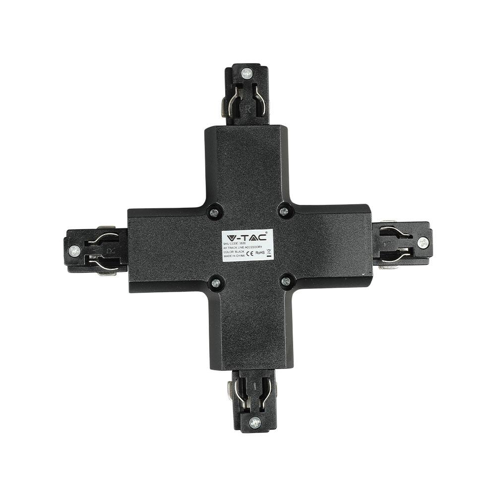 V-TAC 3526 - 4X TRACK LIGHT ACCESSORY BLACK