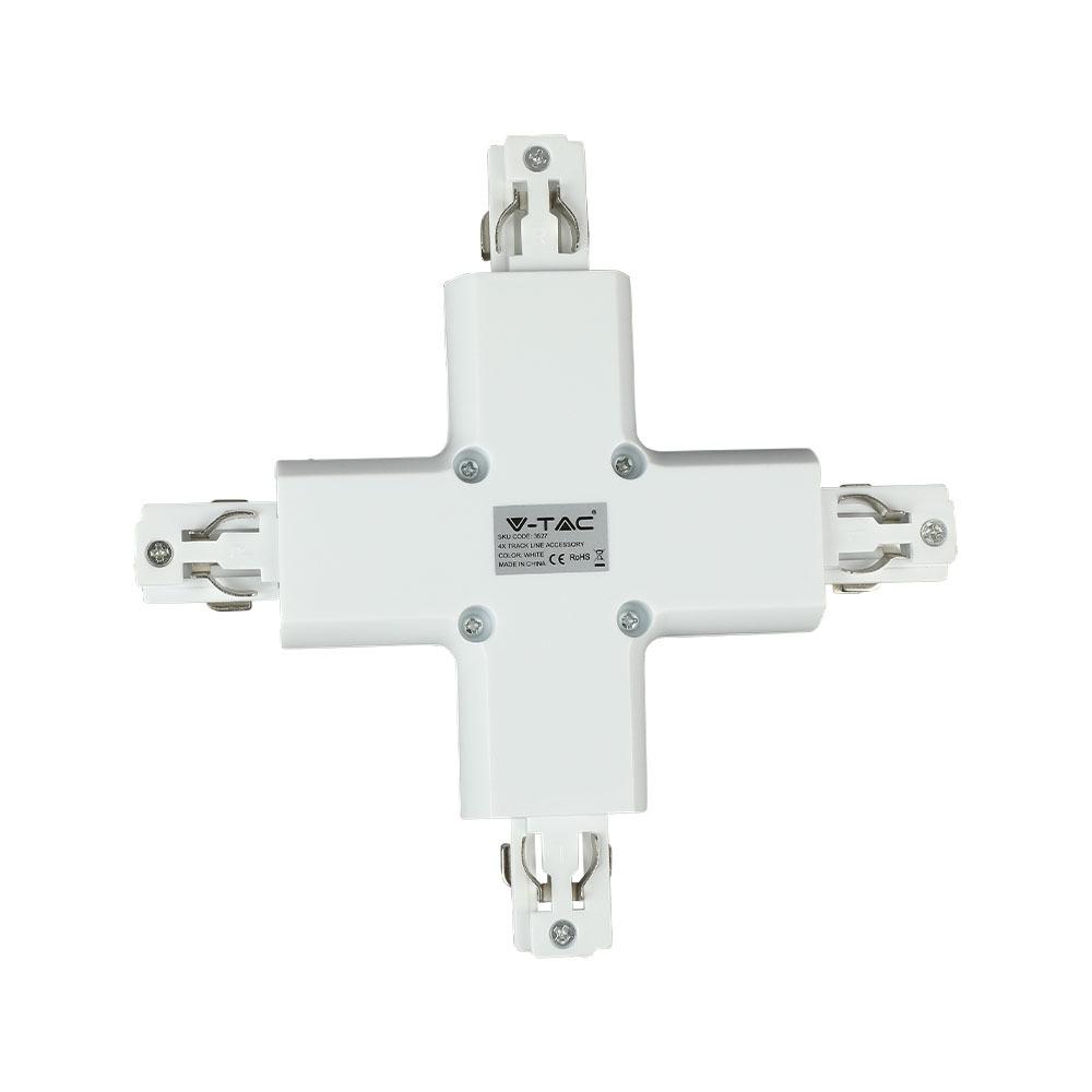 V-TAC 3527 - 4X TRACK LIGHT ACCESSORY WHITE