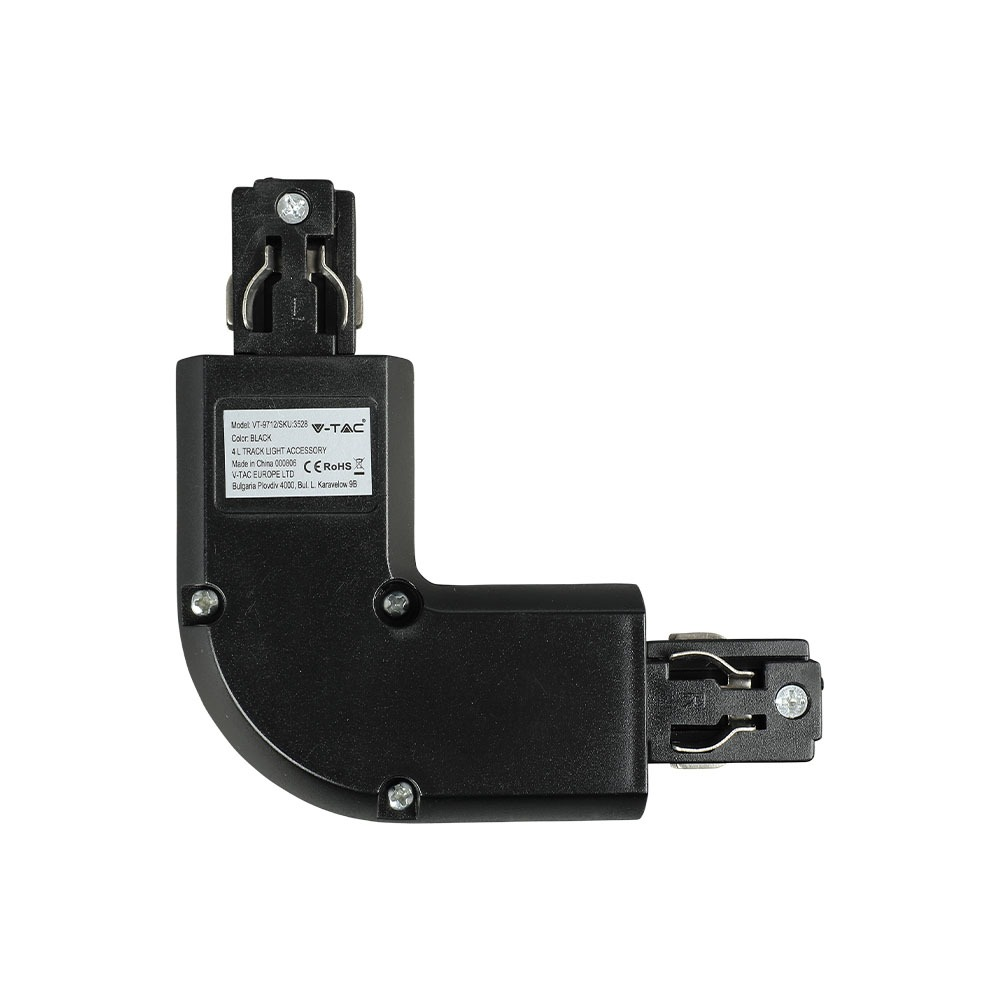 V-TAC 3528 - 4L TRACK LIGHT ACCESSORY BLACK