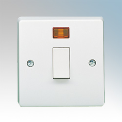 Crabtree 1G 20A DP Control Switch with Neon