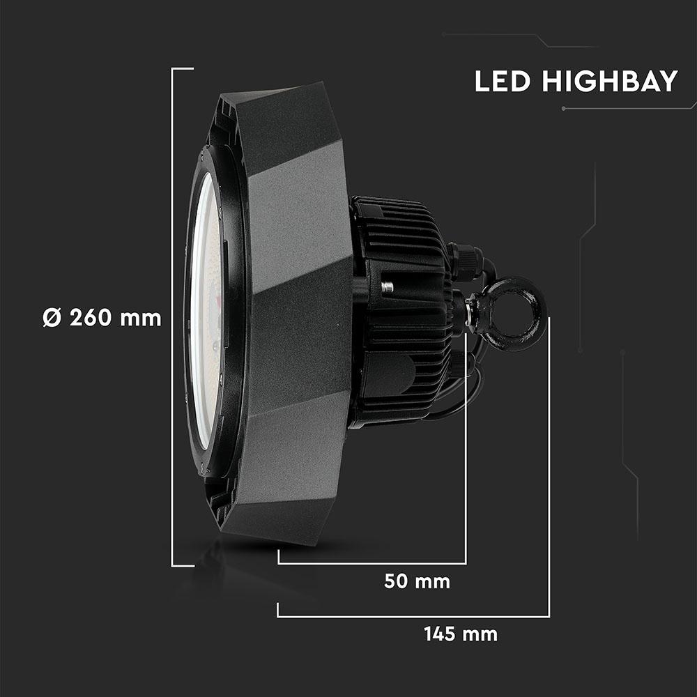 V-Tac 584 - VT-9-105 100W LED HIGHBAY WITH SAMSUNG DRIVER 6400K BLACK BODY(120LM/W) 90'D