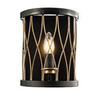 Endon 61499 Heston Wall Light 40W Blk