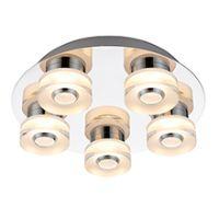 Endon 68913 Rita LED C/Lgt 5x4.5W Clr