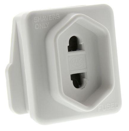 MK Electric UK to UK Plug Shaver Adapter