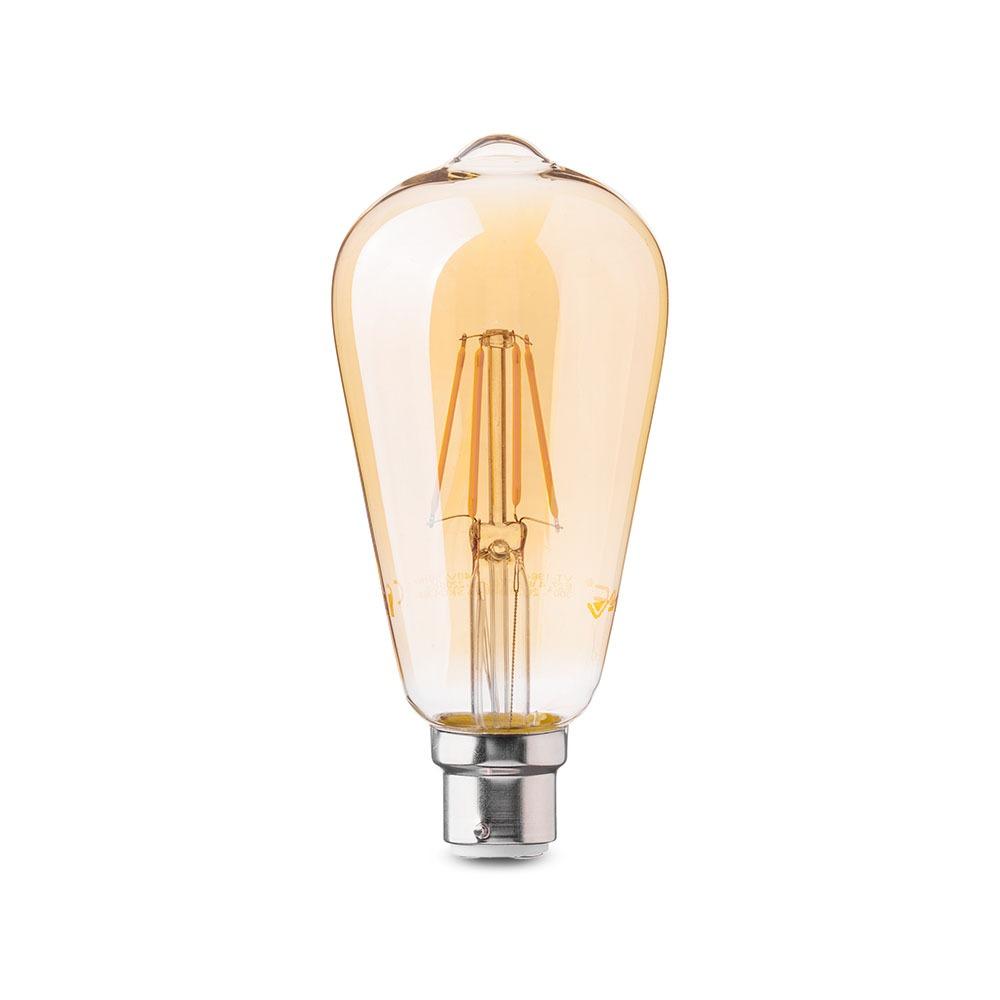 V-TAC 7420 Lamp LED B22 ST64 4W 2200K