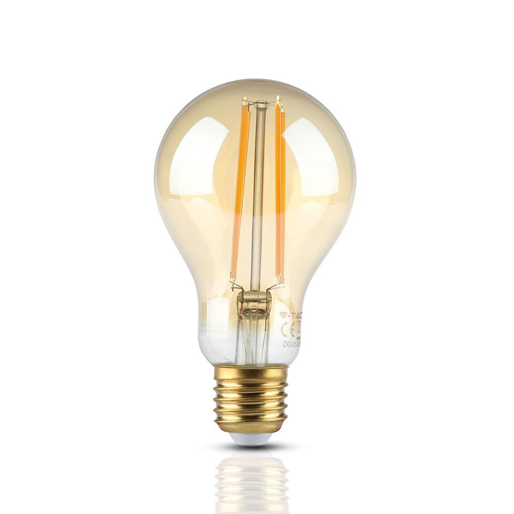 V-TAC 7457 - VT-2123 12.5W A70 LED FILAMENT BULB-AMBER GLASS 2200K E27