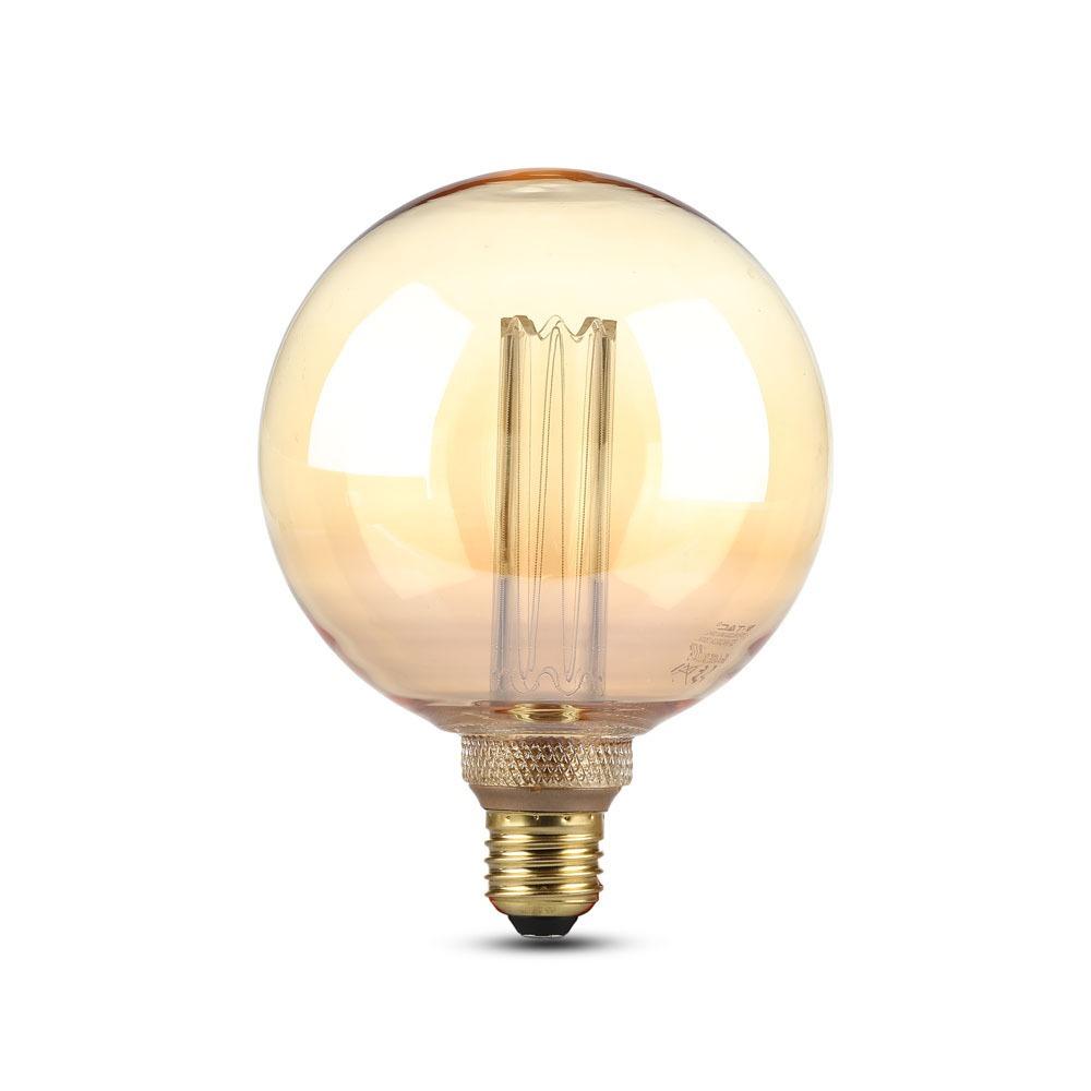VT-2195 4W G125 LED ART FILAMENT BULB-AMBER GLASS COLORCODE:1800K E27
