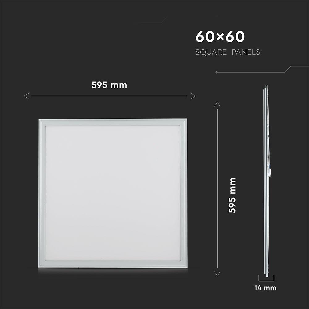 V-TAC 750 - VT-636 36W LED PANEL LIGHT-600x600MM SAMSUNG CHIP 4000K 5 YRS WTY
