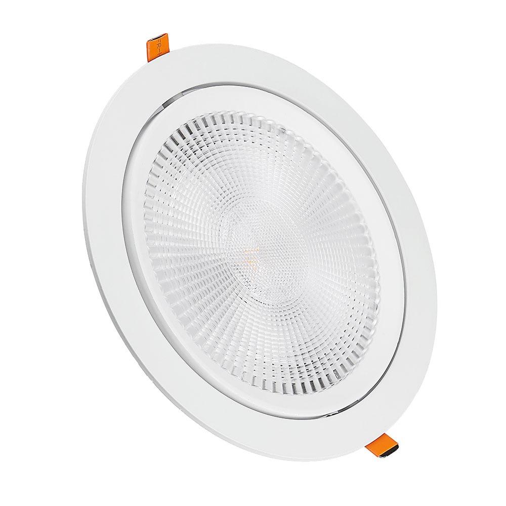 V-TAC 844 - VT-2-20 20W LED DOWNLIGHT SAMSUNG CHIP 6400K 5YRS WTY