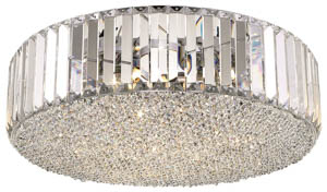 Windsor 5 Light Clear Crystal Ceiling Flush Light 46cm(w)