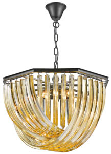 Soho Crystal Ceiling Pendant 5 Light 53cm(w)