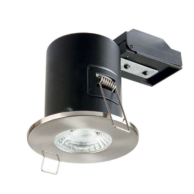 Collingwood GU10 Fire Rated Fixed Downlight IP20 (Brushed Chrome)