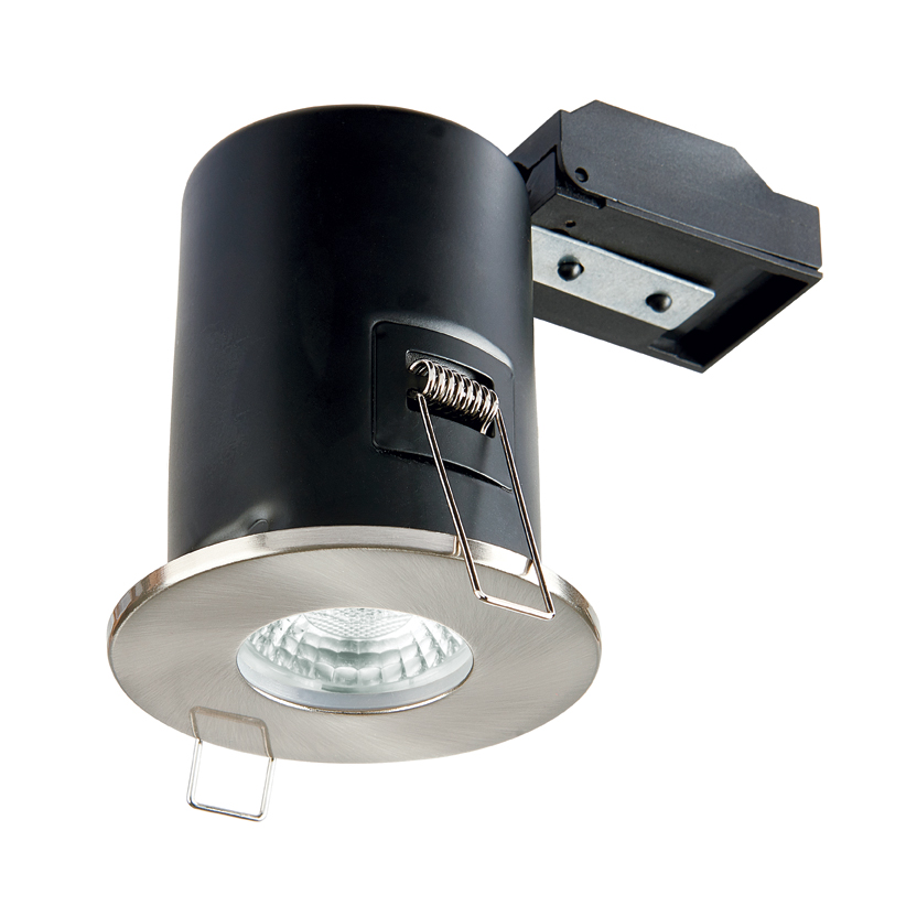 Collingwood GU10 Fire Rated Fixed Downlight IP65 (Brushed Chrome)