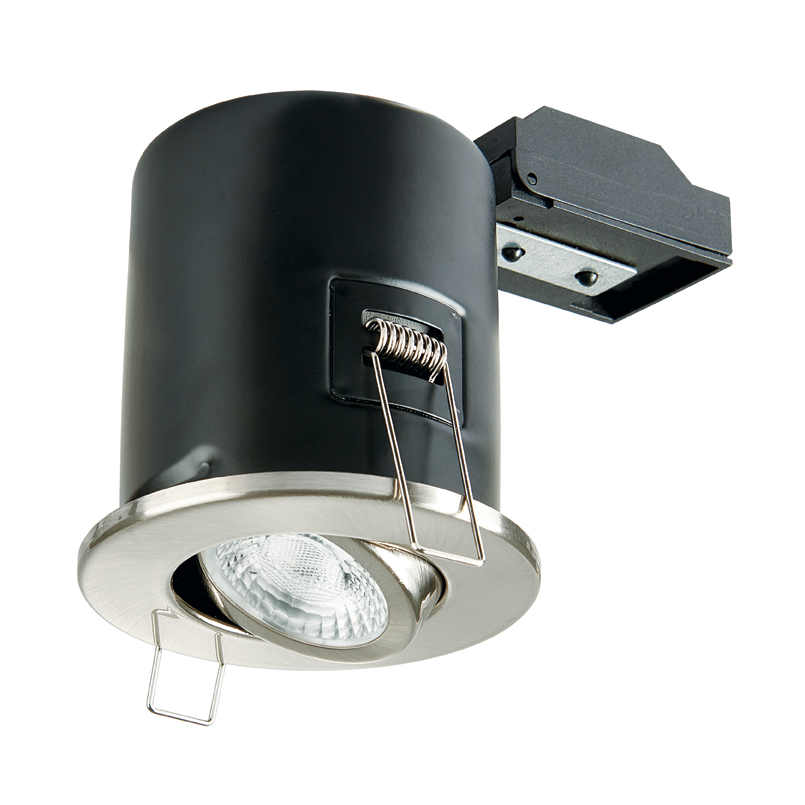 Collingwood GU10 Fire Rated Adjustable  Downlight IP20 (Brushed Chrome)