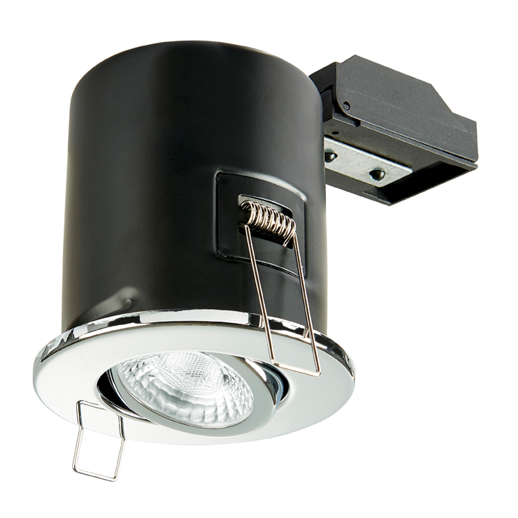 Collingwood GU10 Fire Rated Ajustable Downlight IP20 (Polished Chrome)
