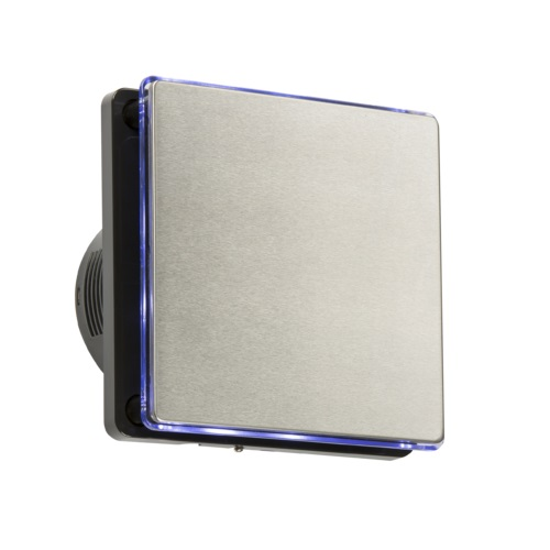 """Knightsbridge 4"""" LED Backlit Extractor Fan with Overrun Timer [Stainless Steel]"""