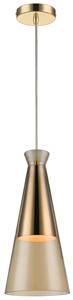 Flute Champagne Gold  Glass Ceiling Pendant 1x60W E27 18cm(w)