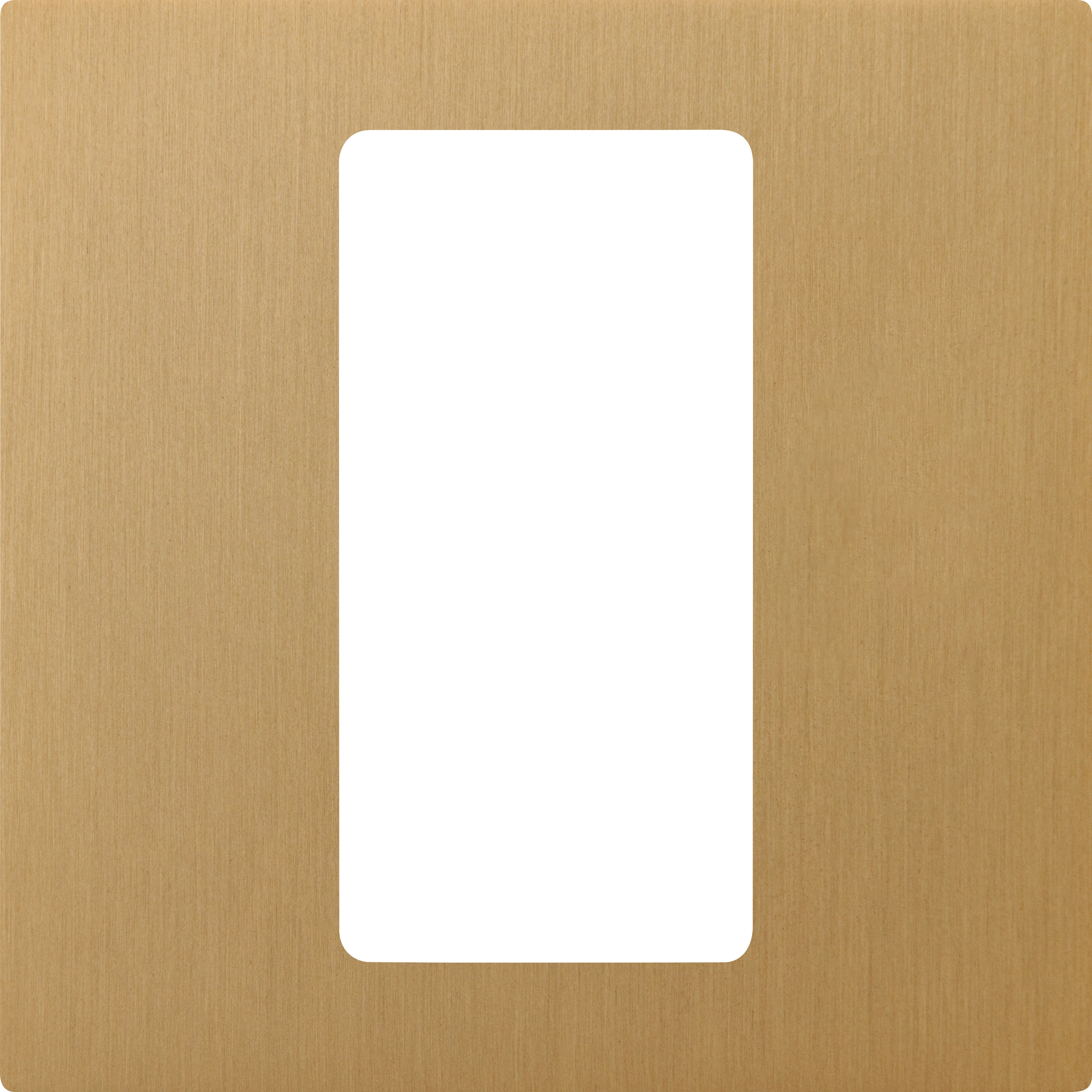 Lutron Pico 1-Column Faceplate (Satin Brass)