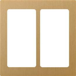 Lutron Pico 2-Column Faceplate (Satin Brass)