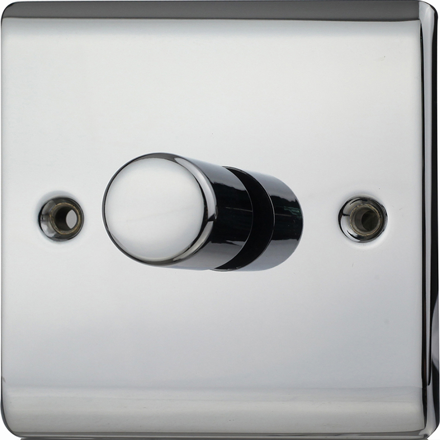 Premspec 1G 400W Push Dimmer Polished Chrome