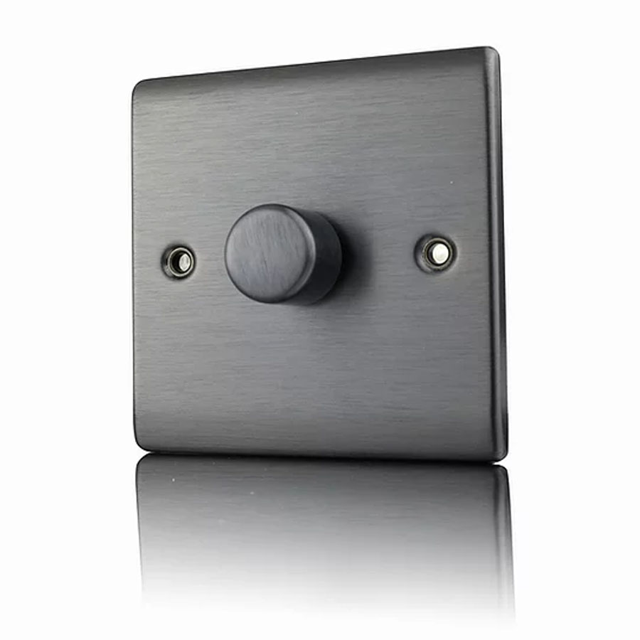 Premspec 1G 400W Push Dimmer Satin Nickel