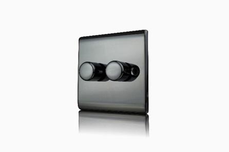 Premspec 2G 250W Push Dimmer Black Nickel