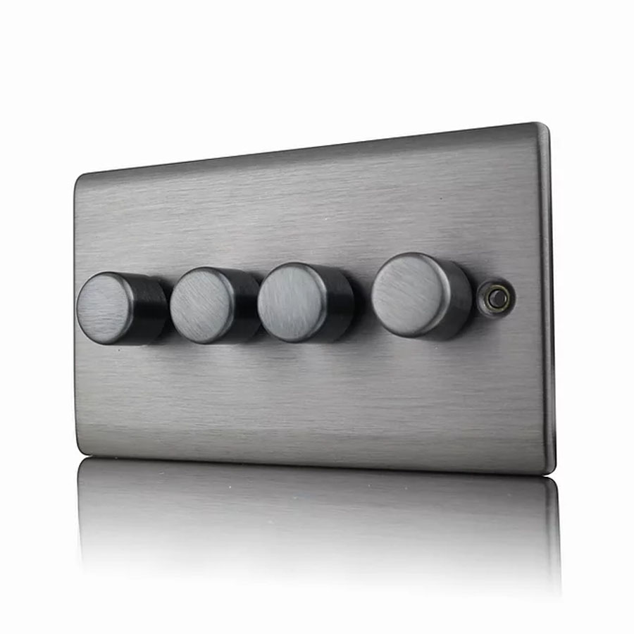Premspec 4G 250W Push Dimmer Satin Nickel