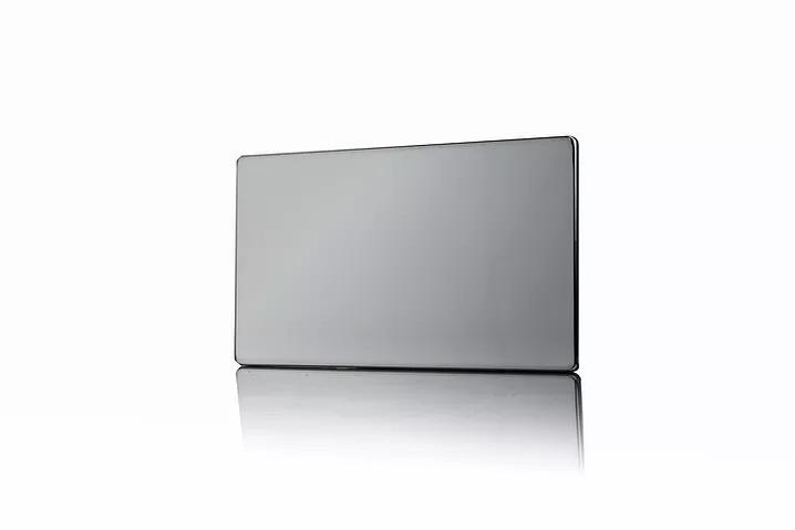 Premspec 2G Blank Plate Screwless in Black Nickel