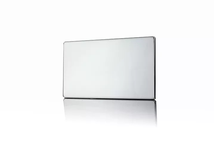 Premspec 2G Blank Plate Screwless in Polished Chrome