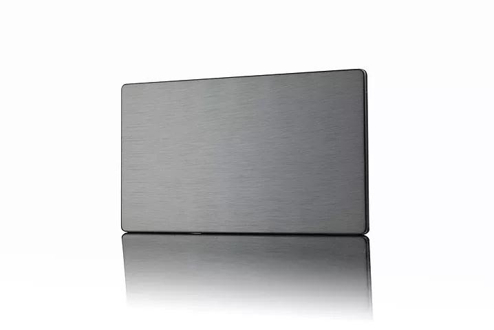 Premspec 2G Blank Plate Screwless in Satin Nickel