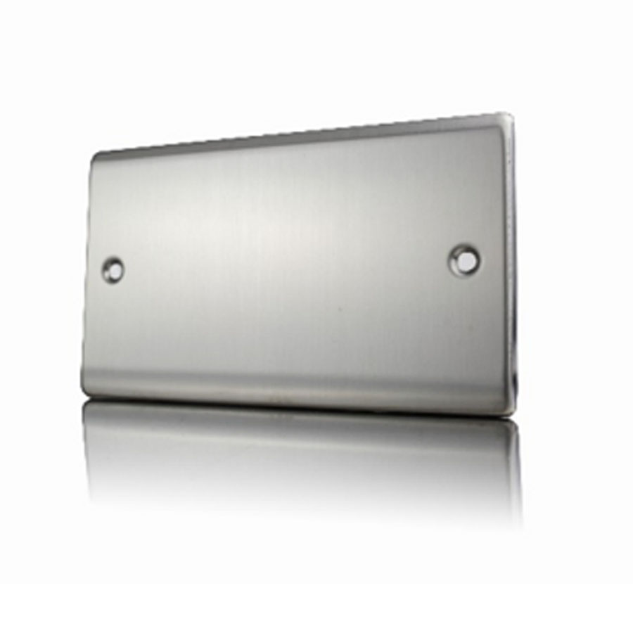Premspec 2G Blank Plate Satin Steel