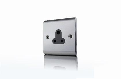 Premspec 5A UnSwitched Socket Black Nickel