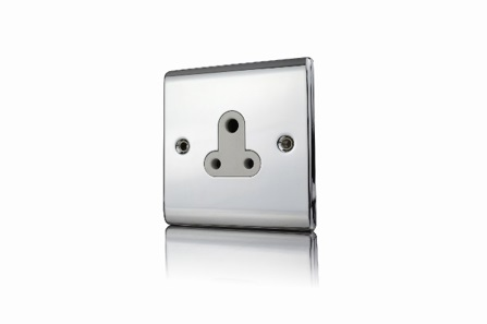Premspec 5A UnSwitched Socket Polished Chrome White Insert