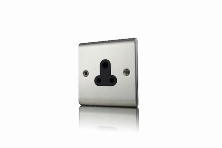Premspec SS 5A UnSwitched Socket Satin Steel