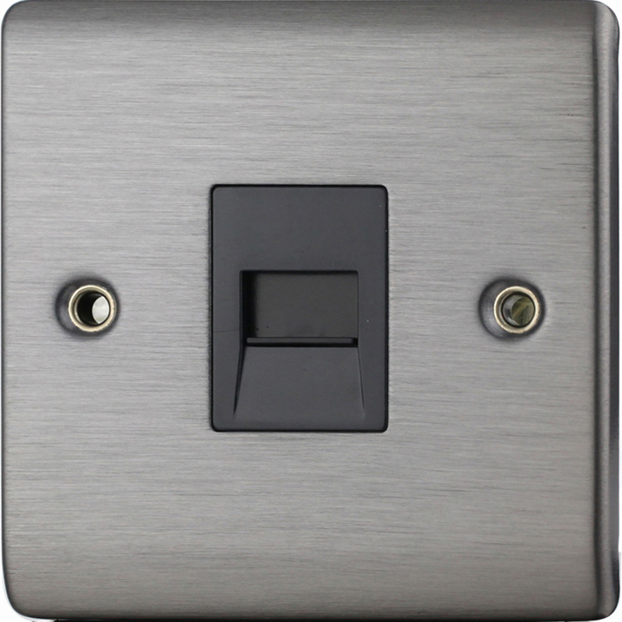 Premspec Master Phone Socket Satin Nickel
