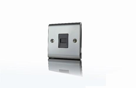Premspec Master Phone Socket Black Nickel