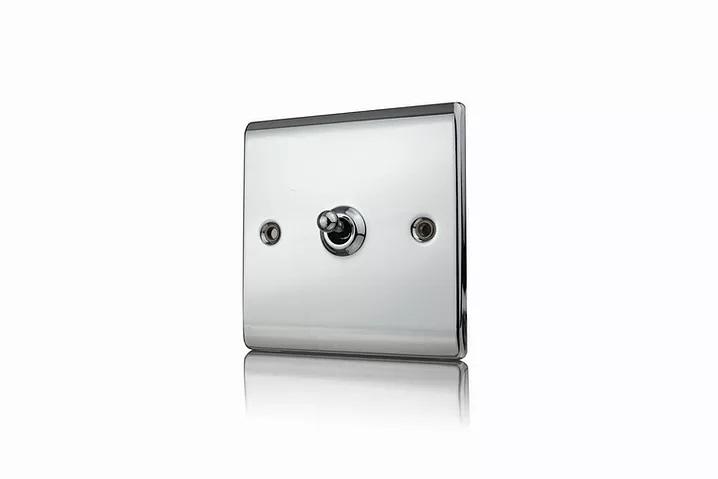 Premspec 10AX 1G 2W Toggle Switch Polished Chrome