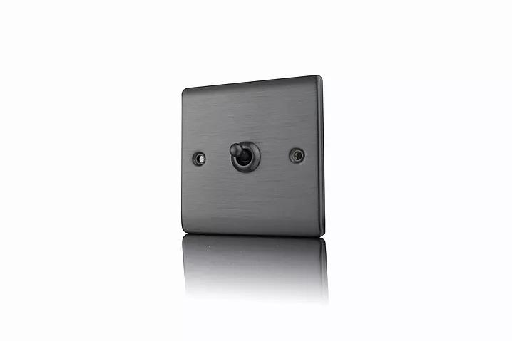 Premspec 10AX 1G 2W Toggle Switch Satin Nickel