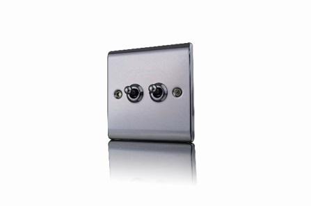 Premspec 10AX 2G 2W Toggle Switch Black Nickel