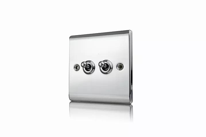 Premspec 10AX 2G 2W Toggle Switch Polished Chrome