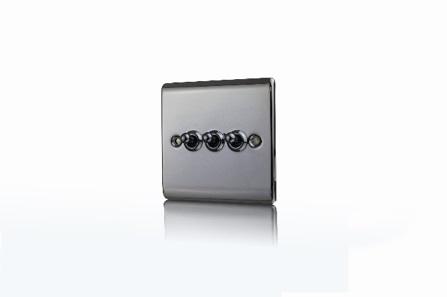 Premspec 10AX 3G 2W Toggle Switch Black Nickel