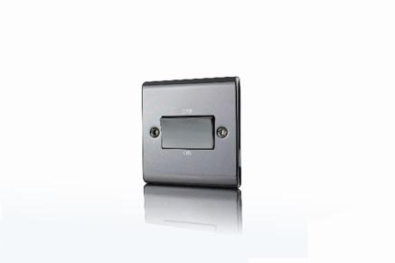 Premspec TP Fan Isolator Switch Black Nickel