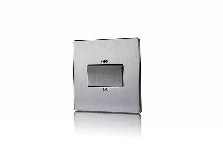 Premspec TP Fan Isolator Switch Screwless In Satin Chrome